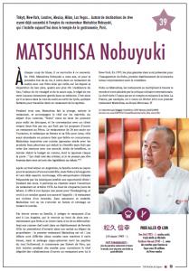 MATSUHISA Nobuyuki, photo sous la propriété de 108 étoiles du Japon