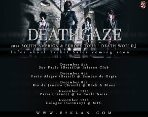 DEATHGAZE TOUR DATES