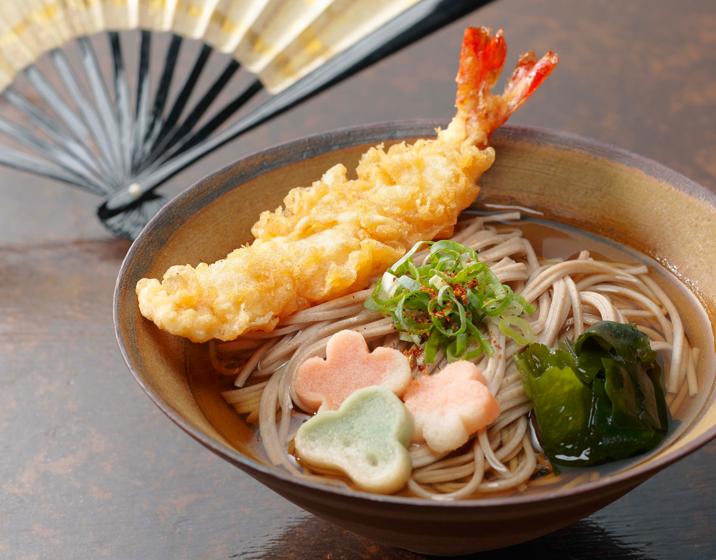 Plat de soba pour le soir du 31 (toshikoshisoba)