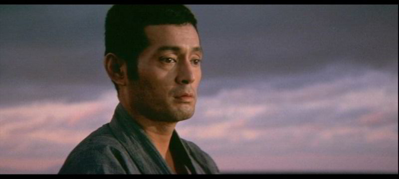 Iwahashi/NAKADAI promenant son spleen sur la plage devant le soleil couchant