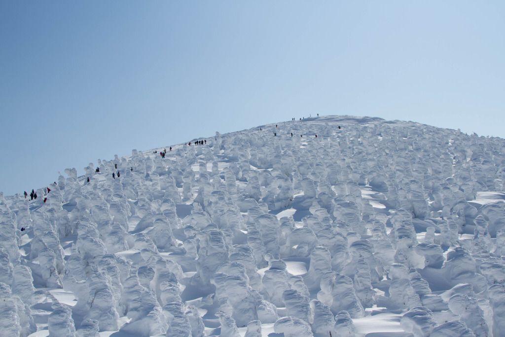 Monstres de glace Mont Zao