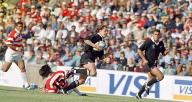 Le 4 juin 1995, le Japon subit la pire défaite de son histoire face à la Nouvelle-Zélande (145 à 17)