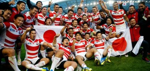 Joie des Japonais Japan celebrate victory after the match