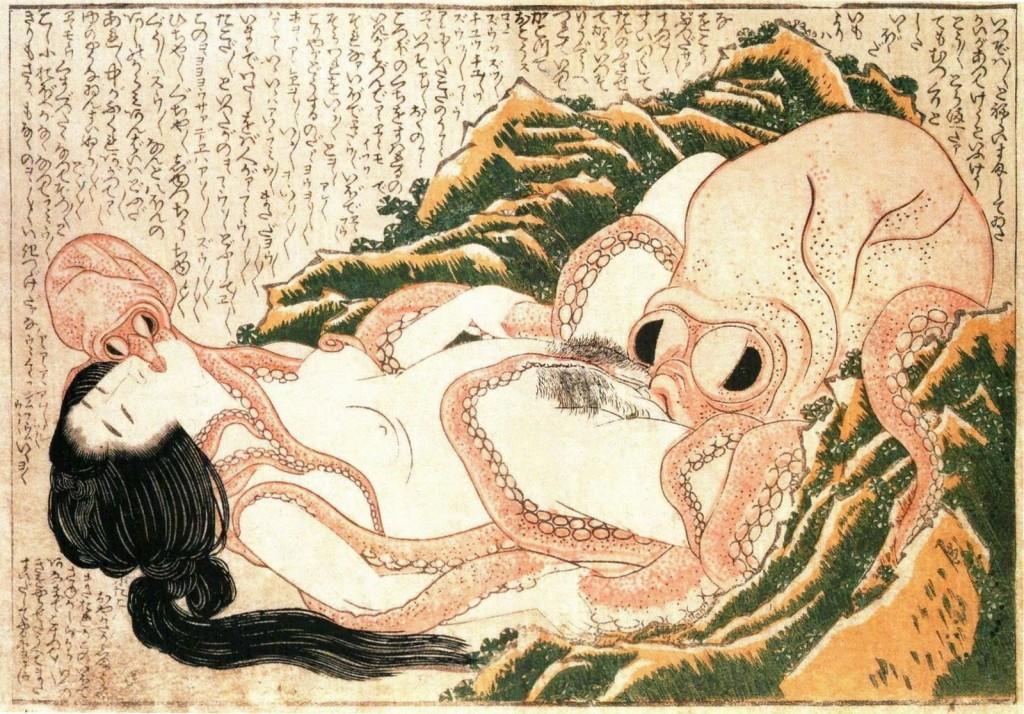 Tako to Ama - Hokusai