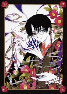 Watanuki accompagné de Mugetsu dans sa véritable forme dans xxxHOLIC