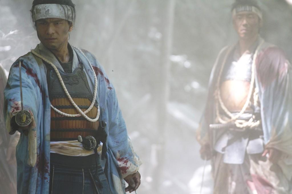 image d'une scène de flash-back prenant place pendant la restauration de Meiji.