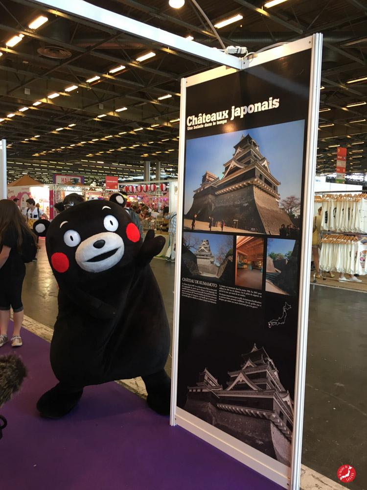 Kumamon visite l'expo photo ©lebaldesmascottes.com