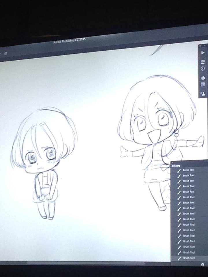 Masterclass de LINCO à Japan Expo, où l'on a appris à dessiner les chibis de la série !
