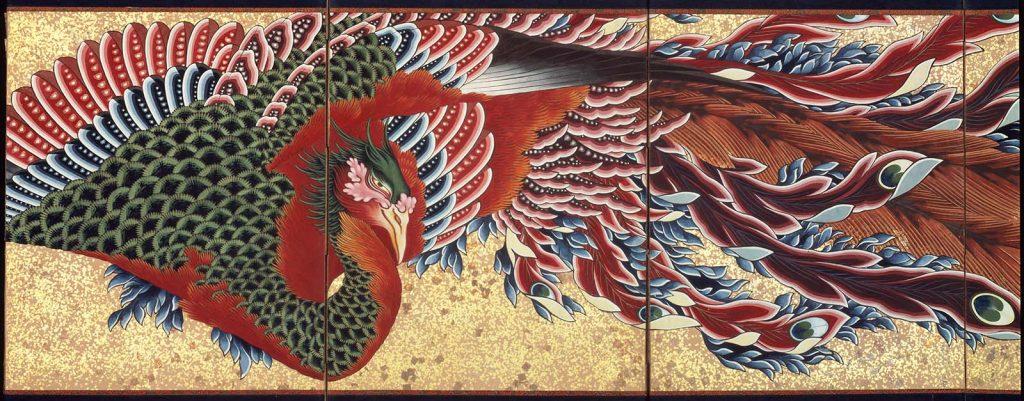 Phoenix par Hokusai