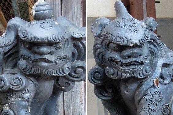 Komainu du sanctuaire Wakamiya Hachimansha à Nagoya