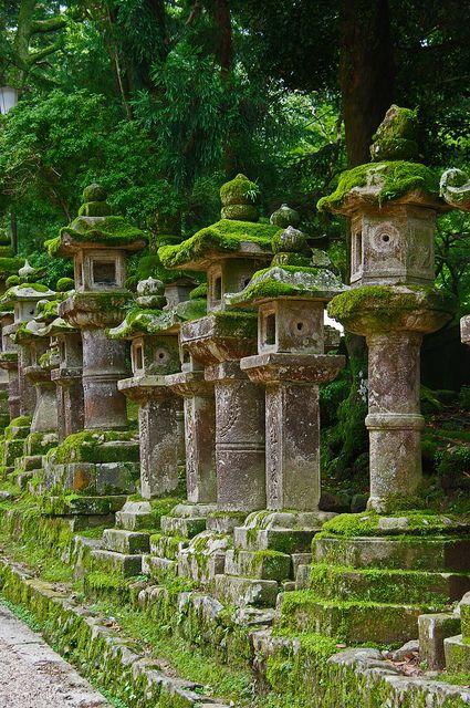 Lanternes tôrô au Kasua Taisha à Nara