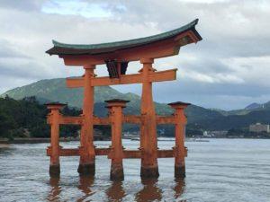 Torii flottant à Miyajima (préfecture d'Hiroshima)