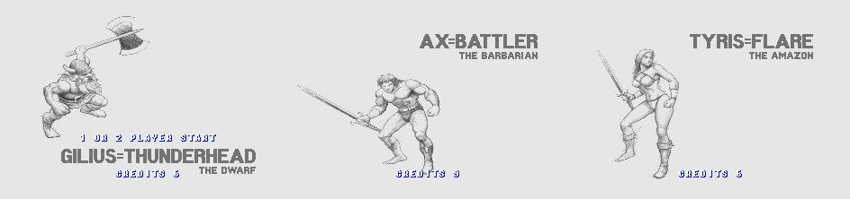 golden axe combat