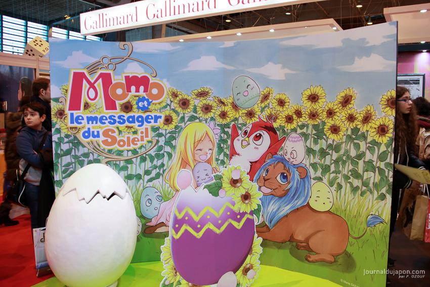 Le stand des éditions Ki-oon, qui faisait honneur à Momo et le messager du Soleil