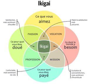 schéma de l'ikigai / source Daily Geek Show