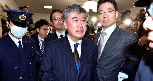 Junichi Fukuda après sa l'annonce de sa démission