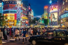 City, food and night in Japan