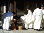 Cérémonie dans le Meiji-jingu