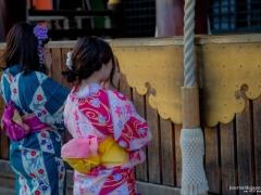 Japonaise Yukata prière