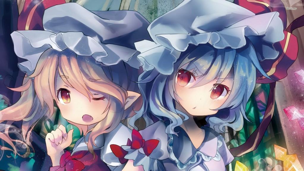 Flandre et Remilia Scarlet, deux des nombreux personnages de Touhou Project