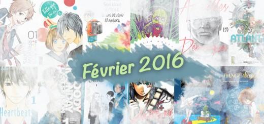 Nouveautés manga février 2016