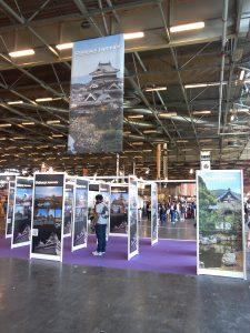 Expo photo sur les châteaux japonais à Japan Expo