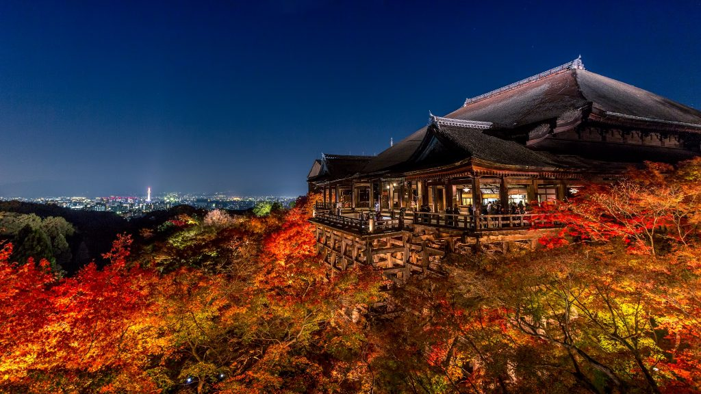Les nocturnes du Kiyomizu-dera sont spectaculaires! Crédits photo: miner8