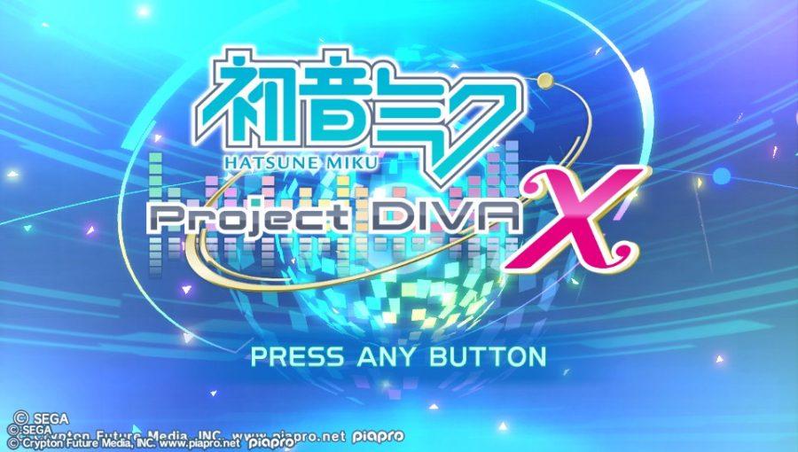 Project DIVA X écran titre