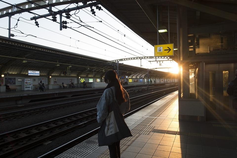 Station de train japonaise. Photo ©getluckman sous licence Pixabay