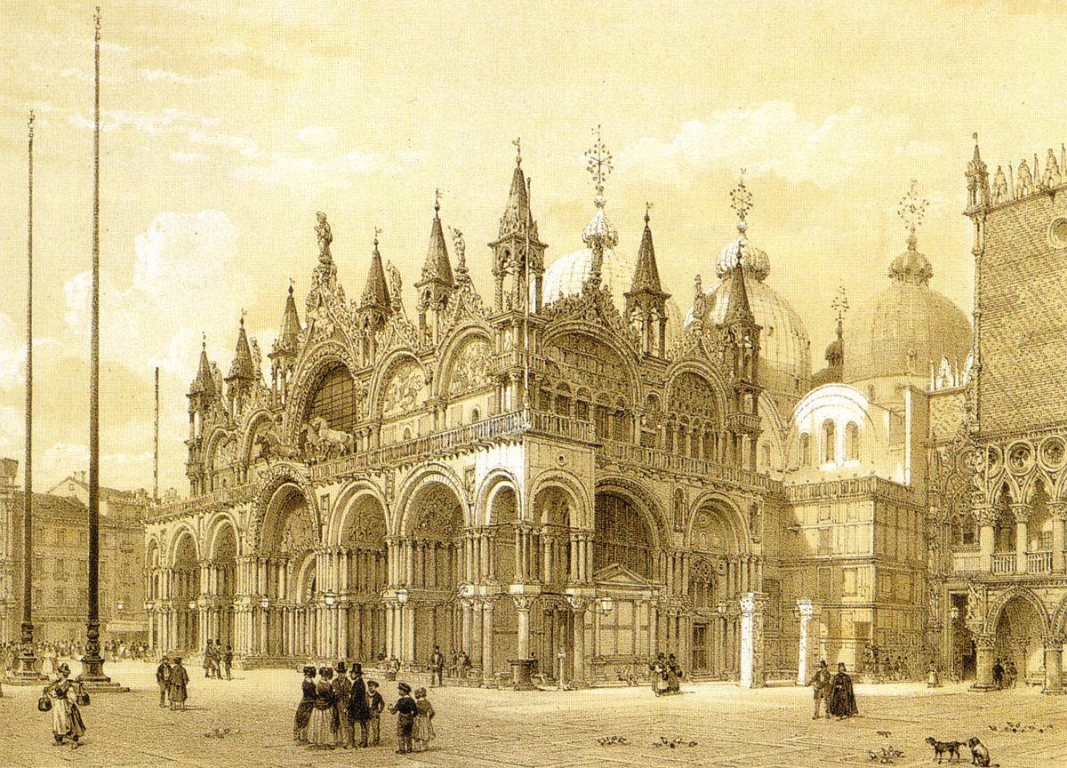 Place Saint-Marc au XIXe siècle