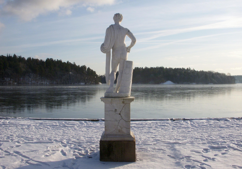 Sculpture du palais de Drottningholm, hiver 2012
