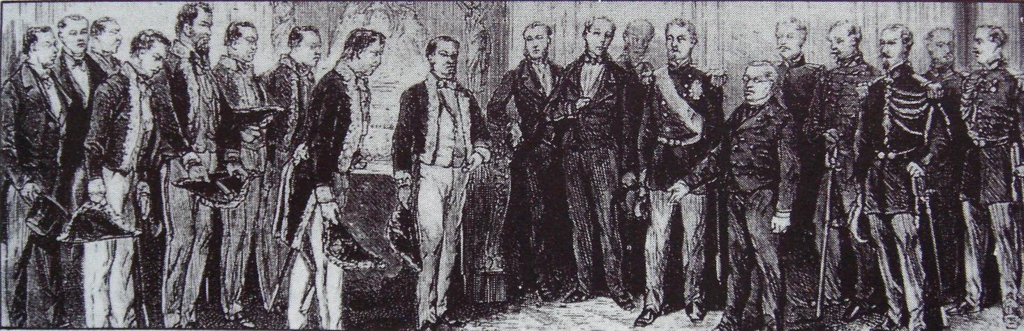 Rencontre entre la Mission Iwakura et le président Thiers