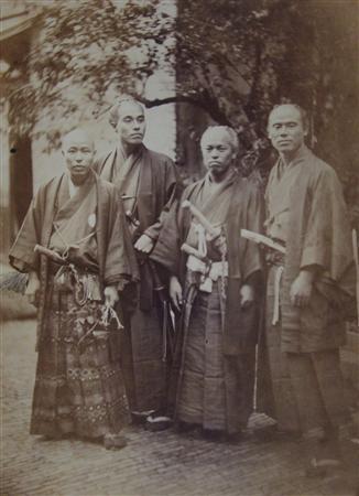 Les membres de la première ambassade japonaise en Europe à Utrecht en 1862