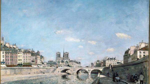 La Seine et Notre-Dame de Paris en 1864