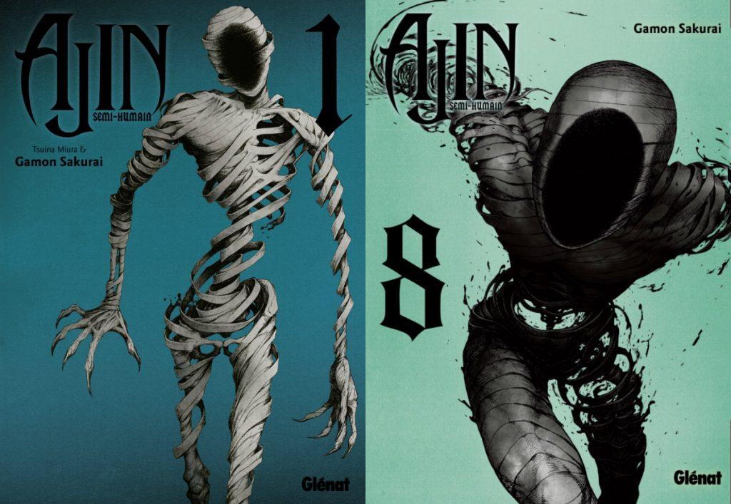 Ajin volumes 1 et 8 Glénat