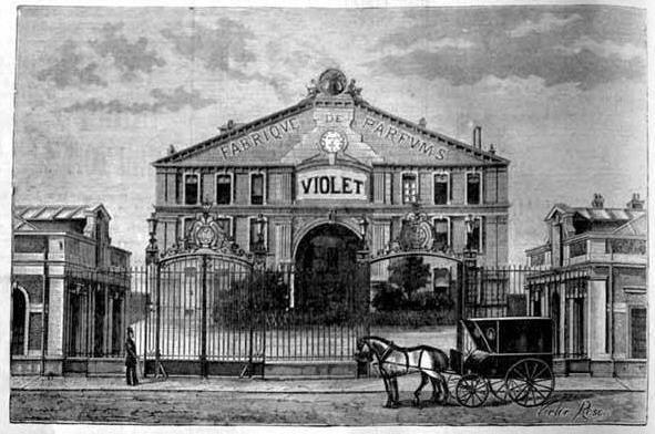L'Usine de la parfumerie Violet en 1886