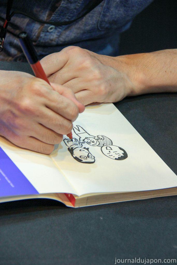 Jean-Paul Nishi dessine sa petite famille au SDL