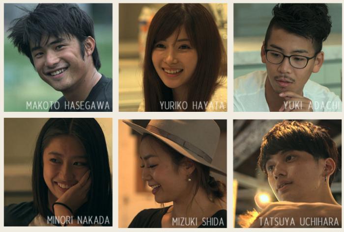 Les 6 premiers habitants : le sportif, l'étudiante, le réaliste, la mannequin, la next-door girl et le coiffeur amoureux