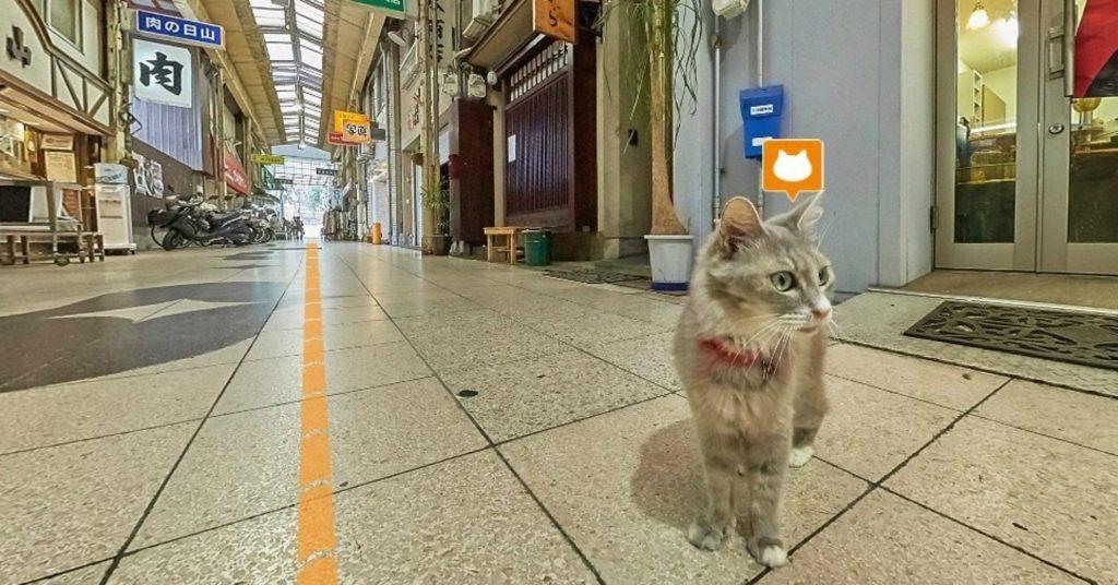 Rue commerçante d'Onomichi. Crédits: Castreetview