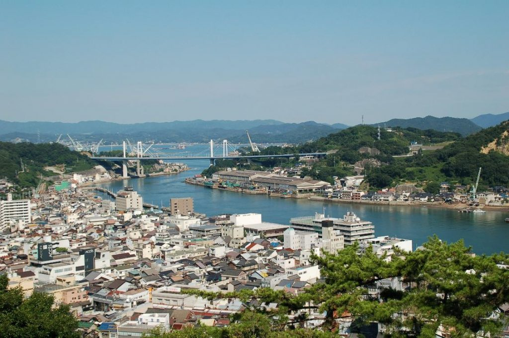 Vue d'Onomich. Crédits: Fujihostel Onomichi