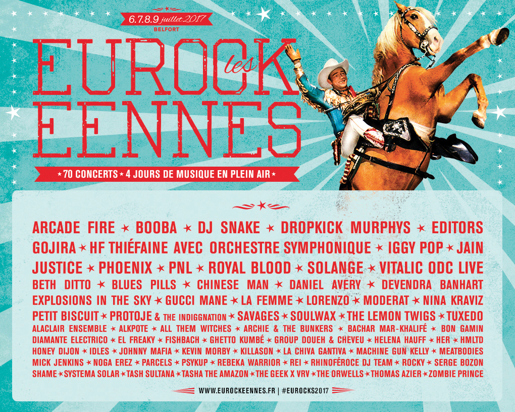 Affiche des Eurockéennes de Belfort