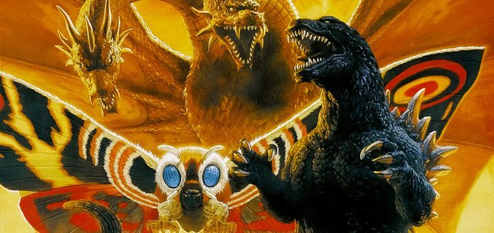 Godzilla, Motrha and King Ghidorah Giant Monster All-out attack