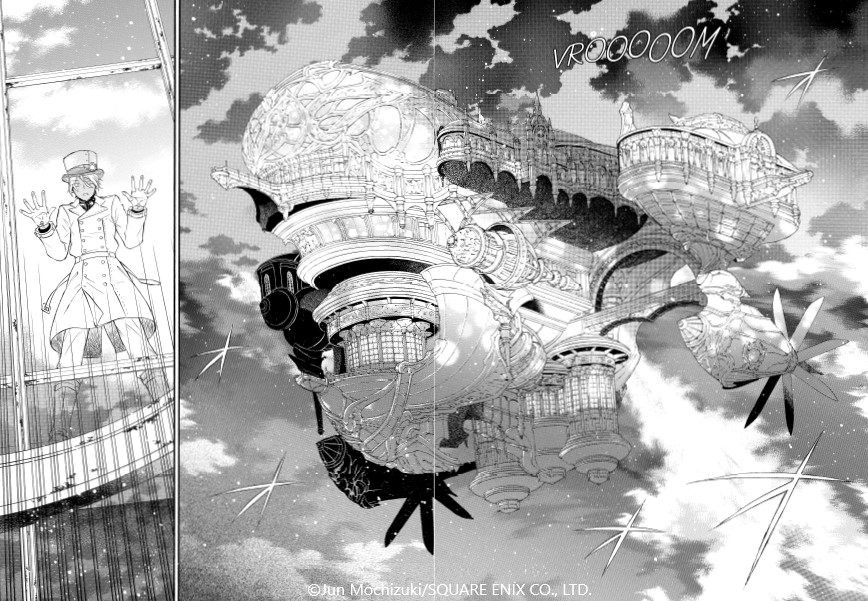 Mémoires de Vanitas : influences steampunk ©Jun Mochizuki/SQUARE ENIX CO., LTD.