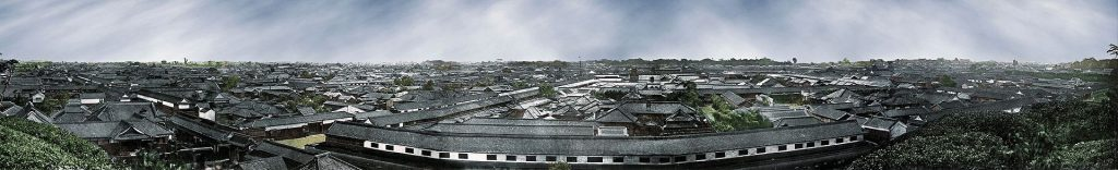 Vieux panorama d'Edo