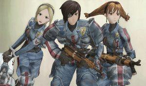 Les trois héros dans Valkyria Chronicles.