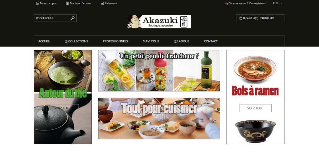 Site web Akazuki