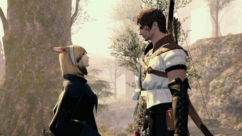 A gauche, le fils, à droite, le père - Final Fantasy XIV