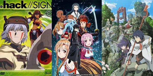 .Hack//signs, SAO et Log horizon: des références en anime MMORPG
