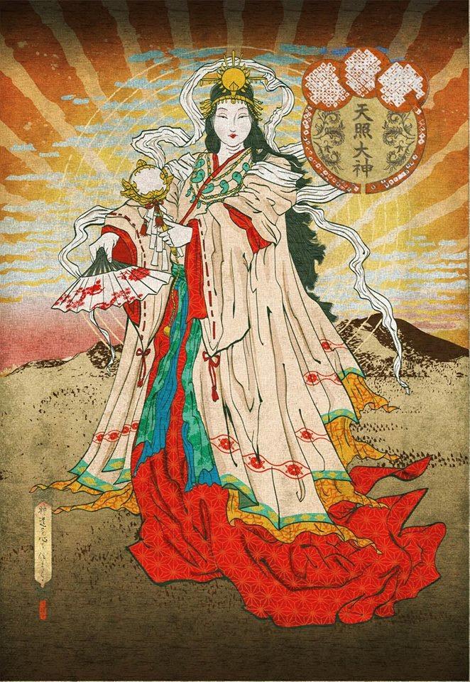 Amaterasu, déesse solaire qui illumine le Ciel
