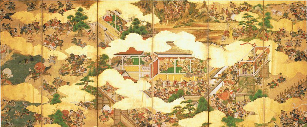 Peinture illustrant la guerre de Genpei